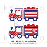 4th of July American flag Steam Train SVG, Independence Day SVG, US Flag pattern svg files for Cricut Silhouette Commercial use svg-kYoDigitalStudio
