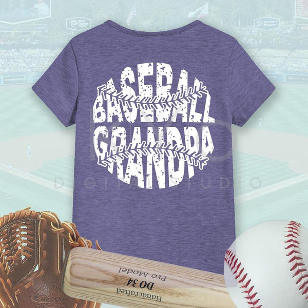 Baseball SVG Baseball Grandpa SVG, Stitches svg, distressed baseball svg studio3 png grunge baseball htv design svg Baseball tshirt svg-kYoDigitalStudio
