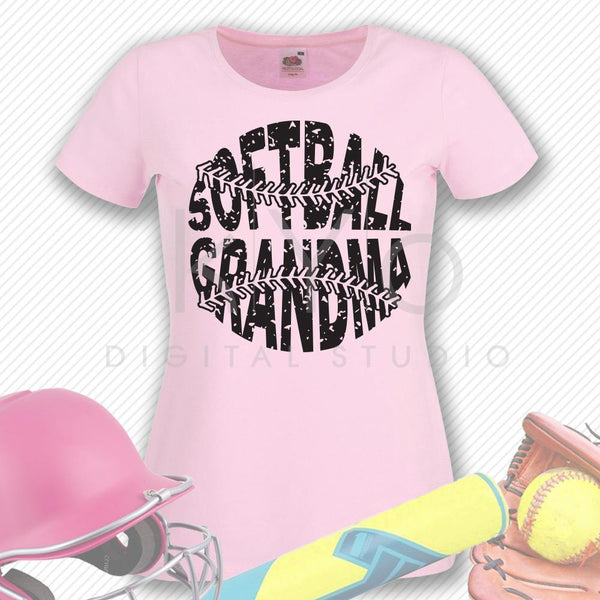 Softball SVG Softball Grandma SVG, Stitches svg, distressed softball svg studio3 png grunge softball htv design svg Softball tshirt svg-kYoDigitalStudio
