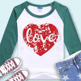 Distressed Heart with Love svg Love heart svg Heart t shirt SVG Grunge heart svg files for Cricut Explore Silhouette Cameo #heartsvg-kYoDigitalStudio