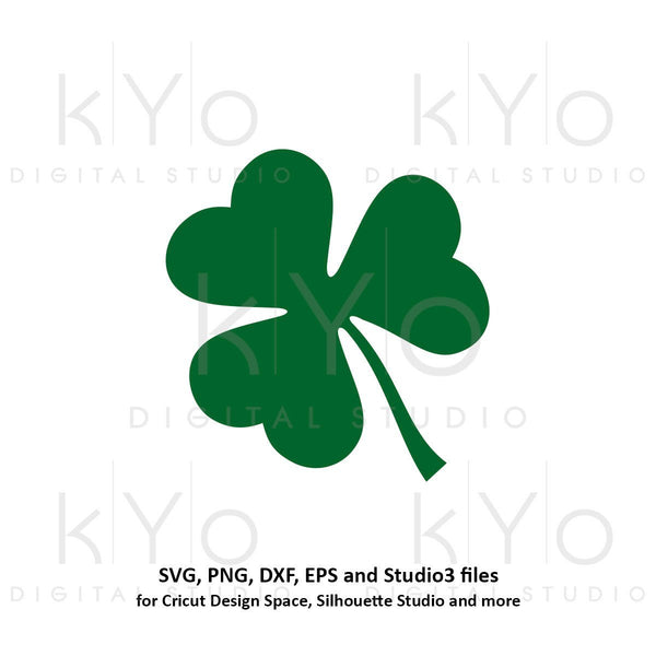 St Patricks Day 3 leaf clover svg, 3 leaf shamrock svg, 3 leaf svg cut cuttable svg files for Cricut and Silhouette saint patricks day svg-kYoDigitalStudio