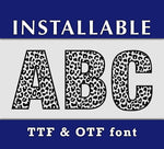 Leopard Cheetah Pattern true type font in TTF and OTF format-kYoDigitalStudio