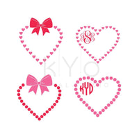 Valentines Day SVG cut files, Love Heart SVG, Bow svg, Heart monogram frame svg, Wedding svg cut files for Cricut and Silhouette-kYoDigitalStudio