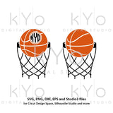 Basketball Monogram svg Basketball Net svg Basketball Love svg Basketball Monogram frame svg png dxf studio3 iron on svg-kYoDigitalStudio