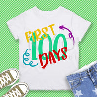 First 100 days SVG PNG dxf Studio3 cut files for Cricut Silhouette School svg Birthday svg Grade svg First svg-kYoDigitalStudio