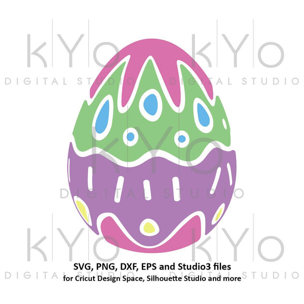 Easter Egg SVG Easter SVG cut files for Cricut Explore Silhouette Cameo Patterned egg svg-kYoDigitalStudio