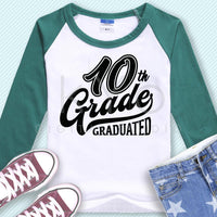 10th Grade Graduated svg files-kYoDigitalStudio