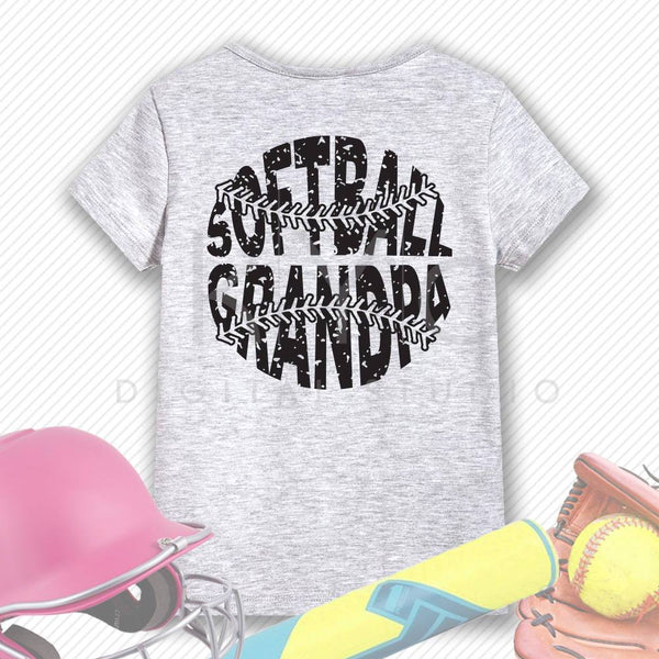 Softball SVG Softball Grandpa SVG, Stitches svg, distressed softball svg studio3 png grunge softball htv design svg Softball tshirt svg-kYoDigitalStudio