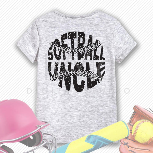 Softball SVG Softball Uncle SVG, Stitches svg, distressed softball svg studio3 png grunge softball htv design svg Softball tshirt svg-kYoDigitalStudio