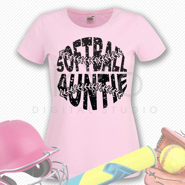 Softball SVG Softball Auntie SVG, Stitches svg, distressed softball svg studio3 png grunge softball htv design svg Softball tshirt svg-kYoDigitalStudio