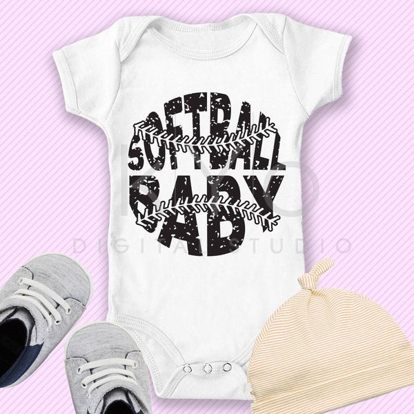 Softball SVG Softball Baby SVG, Stitches svg, distressed softball svg studio3 png grunge softball mom htv design svg Softball tshirt svg-kYoDigitalStudio