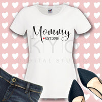 Mommy Est 2018 svg Mommy svg png dxf files for Cricut Silhouette Studio3 files New Mom svg baby shower svg mommys svg-kYoDigitalStudio