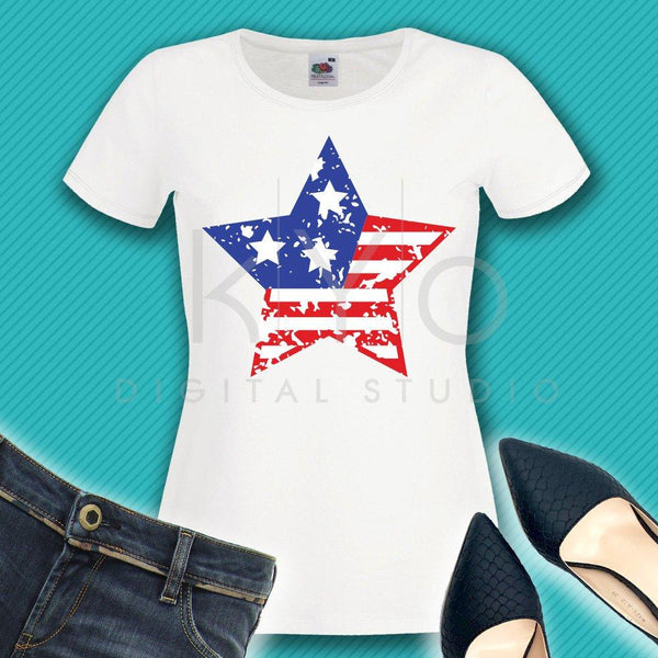 Distressed 4th of July svg American star svg Distressed American US flag svg Independence Day svg Fourth of July SVG files for Cricut-kYoDigitalStudio