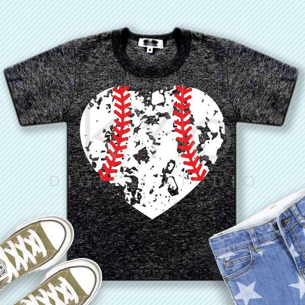 Distressed baseball heart svg distressed heart svg grunge baseball heart svg png iron on design baseball mom svg files for cricut silhouette-kYoDigitalStudio