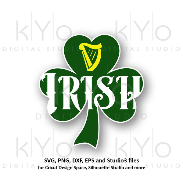 St Patricks Day Irish Clover Shamrock svg png dx eps cutting files-kYoDigitalStudio