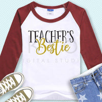 Teachers bestie svg Teachers life svg Teachers day gift svg Printable svg School life svg files for Cricut and Silhouette commercial use-kYoDigitalStudio
