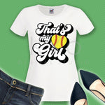 Thats my girl softball svg Softball t shirt svg png dxf studio3 files for Cricut Silhouette iron on svg htv heat transfer design svg-kYoDigitalStudio