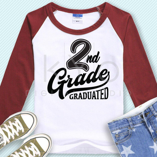 2nd Grade Graduated svg png dxf eps files-kYoDigitalStudio