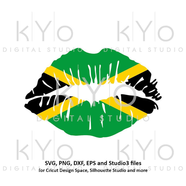 Jamaican Girl Lips svg Jamaica Reggae Rasta Caribbean Country Flag Clipart  Vector Cut Cutting files for Cricut Silhouette