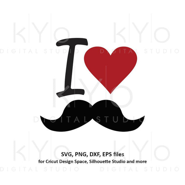 Fathers day svg, I love moustache svg, mens t shirt design svg, Dad shirt svg files for Cricut Silhouette png dxf files no 1 dad svg-kYoDigitalStudio