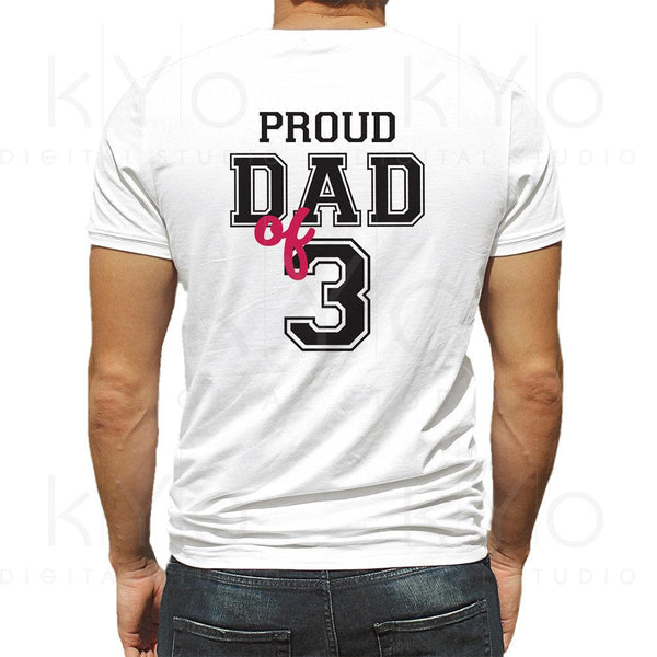 Proud dad of three shirt design svg, Proud dad svg, Fathers day svg, Father of 3 svg, Dad of 3 svg, Father svg files for Cricut Silhouette-kYoDigitalStudio