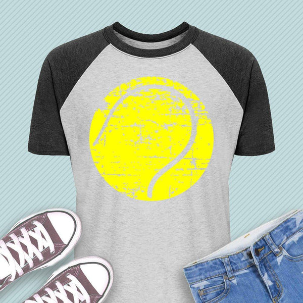 Distressed tennis ball svg, Tennis svg, Grunge tennis svg, tennis shirt svg png dxf files for Cricut Silhouette sport shirts svg dxf files-kYoDigitalStudio