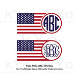 American flag monogram svg 4th of July svg American monogram svg Stars and stripes svg png dxf files for Cricut Silhouette dxf png files-kYoDigitalStudio