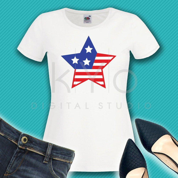 Stars and stripes svg 4th of July svg American star svg American US flag svg Independence Day svg Fourth of July SVG files for Cricut-kYoDigitalStudio