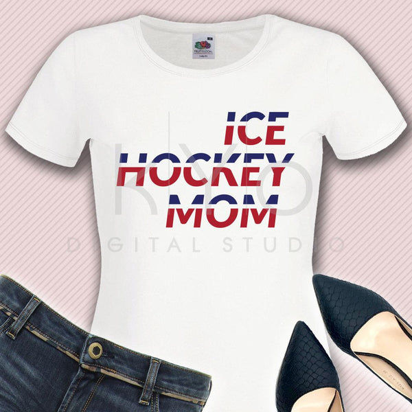 Ice Hockey MOM svg Ice Hockey svg Hockey girl svg Hockey mom shirt svg Hockey puck svg Proud mom svg files for Cricut Silhouette dxf files-kYoDigitalStudio