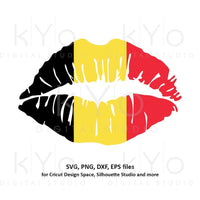 Belgian flag girl lips shirt design svg png dxf eps files-kYoDigitalStudio