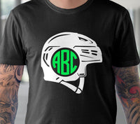Ice Hockey helmet svg Ice Hockey monogram svg Ice Hockey svg Hockey mom shirt svg Hockey player svg files for Cricut Silhouette dxf files-kYoDigitalStudio