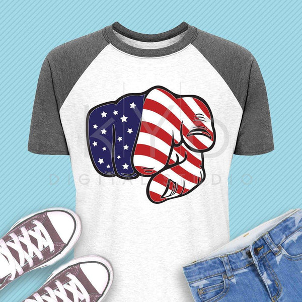 American flag svg Pointing Finger svg Uncle Sam svg 4th of July fist svg Stars and stripes American shirt svg files for cricut silhouette-kYoDigitalStudio