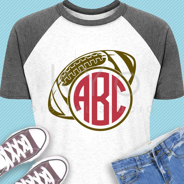Football svg Football Monogram svg Football shirt svg American football svg Football Mom svg files for Cricut Silhouette AFL svg iron on svg-kYoDigitalStudio