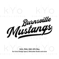 Burnsville Mustangs svg png dxf files-kYoDigitalStudio