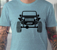 Wrangler Jeep Grill svg Lifted Raised jeep silhouette svg Jeep Wrangler shirt design Hot rod Off road 4x4 svg files for Cricut Silhouette cut files-kYoDigitalStudio