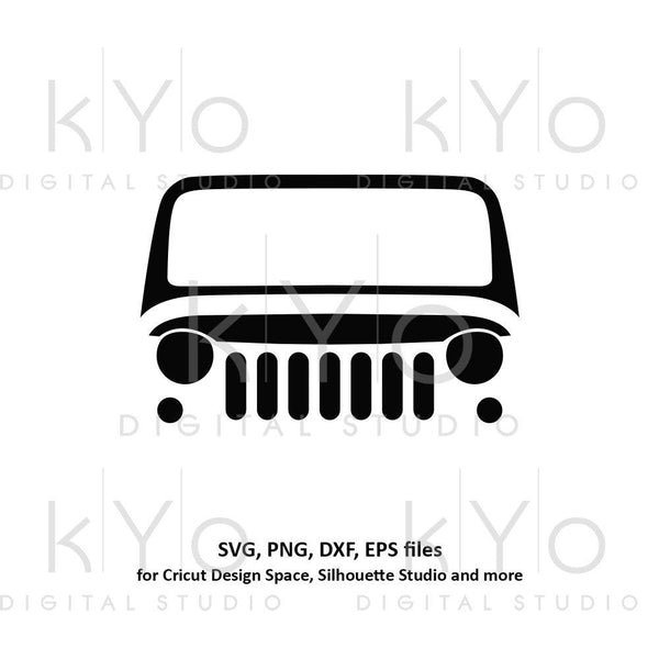 Jeep Wrangler front grill svg jeep silhouette svg Jeep shirt design Off road 4x4 svg files for Cricut Silhouette cut files-kYoDigitalStudio