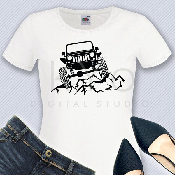 Jeep Wrangler svg Raised Off road 4x4 jeep svg Explore svg Jeep off road Adventure shirt design svg files for Cricut Silhouette cut files-kYoDigitalStudio
