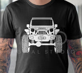 Raised Jeep Wrangler with winch Off road 4x4 svg png dxf eps files Monster truck svg Jeep shirt svg files for Cricut Silhouette cut files-kYoDigitalStudio