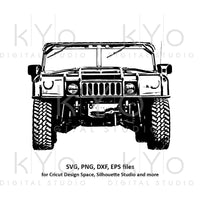 Hummer H1 svg US Military svg Offroad 4x4 svg Veterans day svg Distressed Military truck shirt svg files for Cricut Silhouette cut files-kYoDigitalStudio