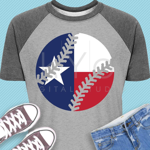Baseball shirt svg Texas baseball svg Texas flag svg Baseball stitches iron on svg Baseball MOM svg png dxf files for Cricut Silhouette-kYoDigitalStudio