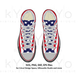 American flag sneakers svg US flag svg American flag svg Trainers svg Chuck svg png dxf eps svg files for Cricut Silhouette cut files-kYoDigitalStudio