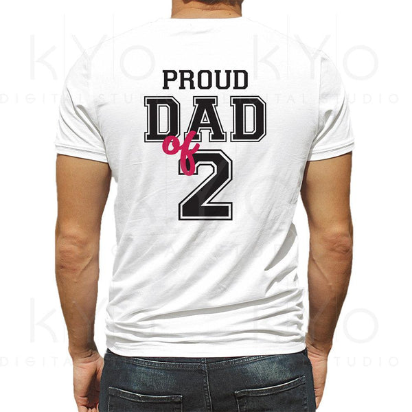 Proud dad of two shirt design svg, Proud dad svg, Fathers day svg, Father of 2 svg, Dad of 2 svg, Father svg files for Cricut Silhouette-kYoDigitalStudio