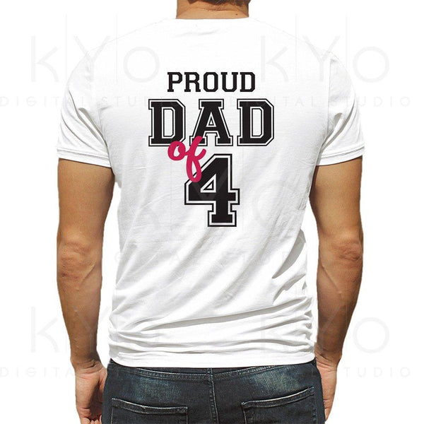 Proud dad of four shirt design svg, Proud dad svg, Fathers day svg, Father of 4 svg, Dad of 4 svg, Father svg files for Cricut Silhouette-kYoDigitalStudio