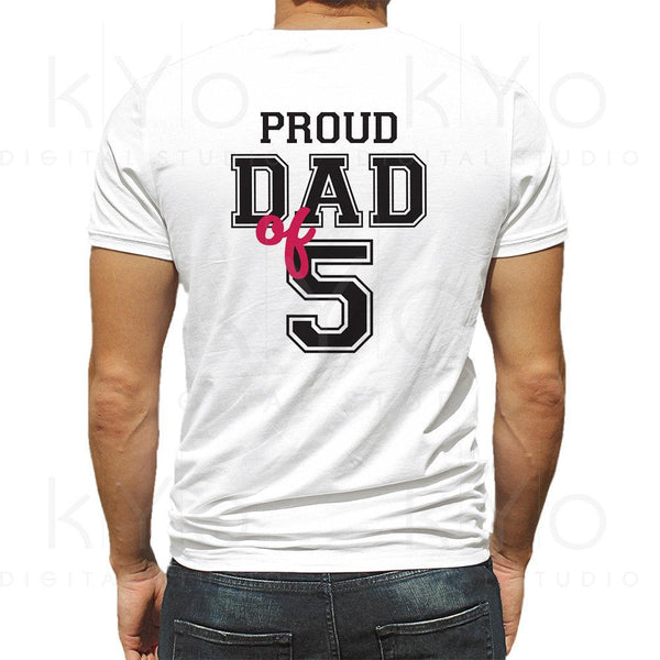 Proud dad of five shirt design svg, Proud dad svg, Fathers day svg, Father of 5 svg, Dad of 5 svg, Father svg files for Cricut Silhouette-kYoDigitalStudio