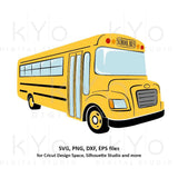 Yellow School bus svg Back to school svg 1st day at school svg png dxf eps files school shirt svg files for Cricut Silhouette cut files-kYoDigitalStudio