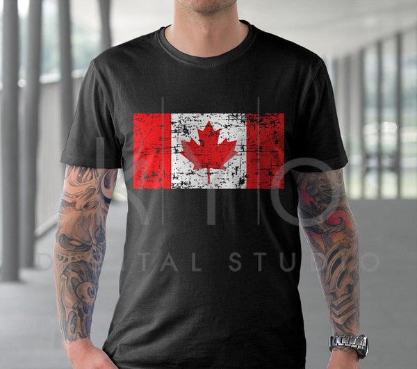 Distressed Canada flag svg Canadian flag svg Canada Day svg files for Cricut Silhouette DXF files PNG Clipart EPS Vector image Shirt design-kYoDigitalStudio