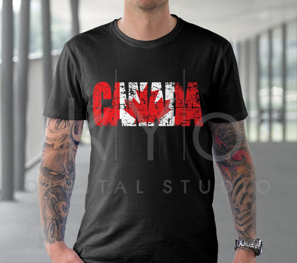 Canada Day svg Distressed Canada flag svg Canadian flag svg Canada Shirt design svg files for Cricut Silhouette DXF files PNG Clipart EPS-kYoDigitalStudio