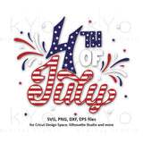 4th of July svg USA American Flag shirt design Stars and stripes svg Fourth of July svg png dxf files for Cricut Silhouette Party in the USA-kYoDigitalStudio