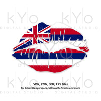 Hawaii Girl Lips svg Hawaiian Flag Hawaiian Islands Honolulu Clipart png dxf eps Vector svg Cut Cutting files for Cricut Silhouette-kYoDigitalStudio