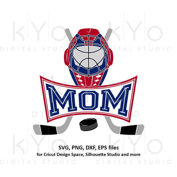 Ice Hockey MOM svg Ice Hockey svg Hockey girl svg Hockey stick svg Hockey puck svg Proud mom svg files for Cricut Silhouette dxf files-kYoDigitalStudio